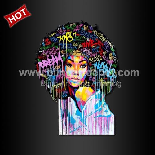 Afro Girl Iron On Heat Transfers Vinyl Printing